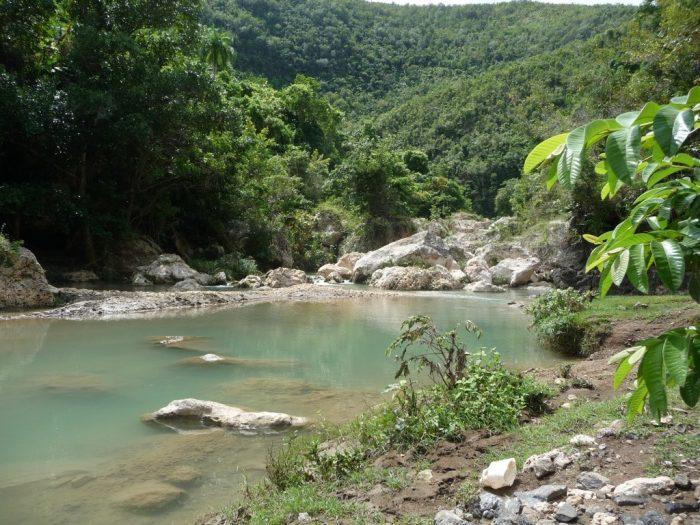 Bassin Bleu in de jungle van Haïti