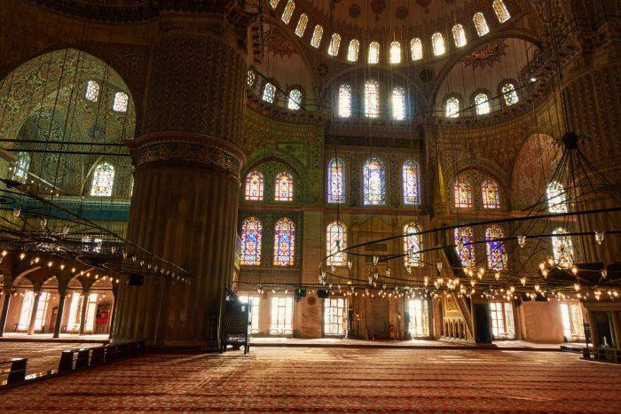Binnenkant van de Suleymaniye moskee