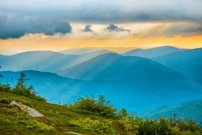 Blue Mountains op Jamaica eiland