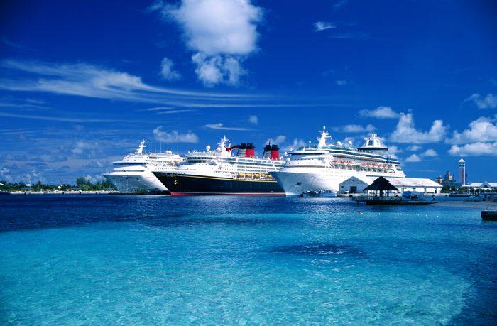 Cruise schepen op de Bahama's