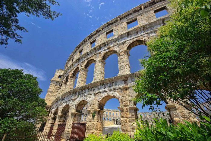 De Arena in Pula, Istrië