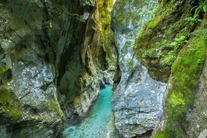 De Tolmin Kloof in Slovenië