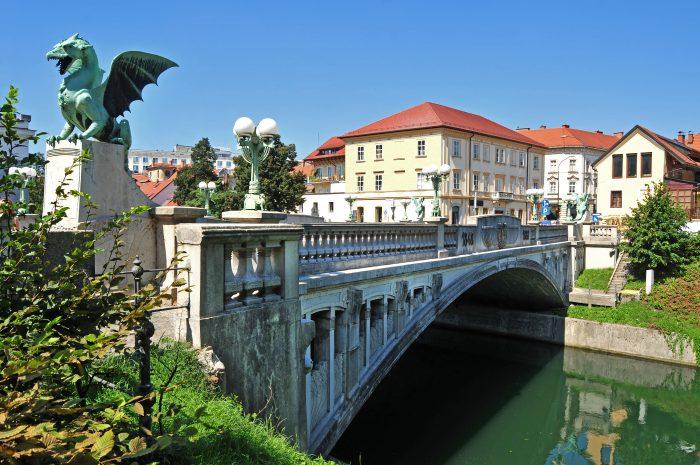 Drakenbrug (Dragon Bridge) in Ljubljana