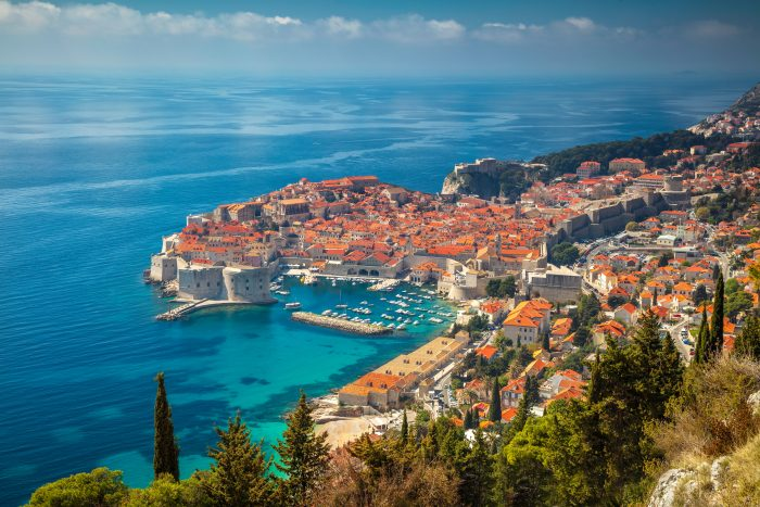 Dubrovnik gezien vanaf de snelweg D8