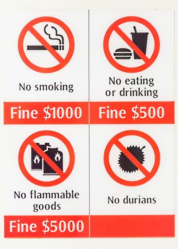 Durian, het verboden fruit in openbaar vervoer van Singapore