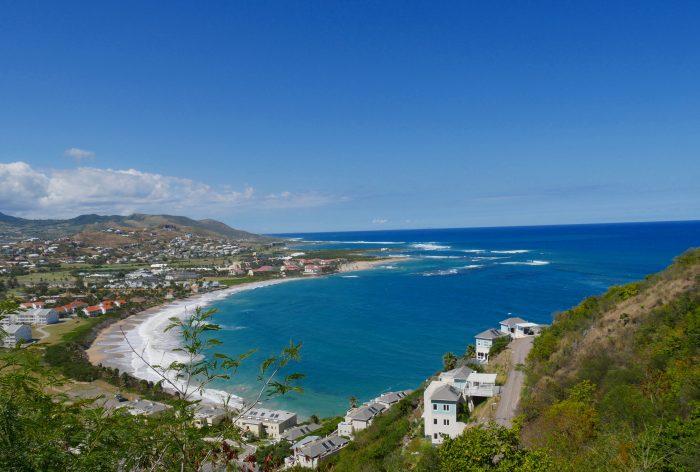 Uitzicht over Frigate Bay, Saint Kitts