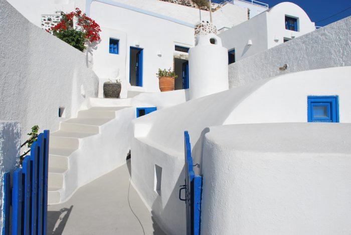 Griekse stijl huizen in Imerovigli
