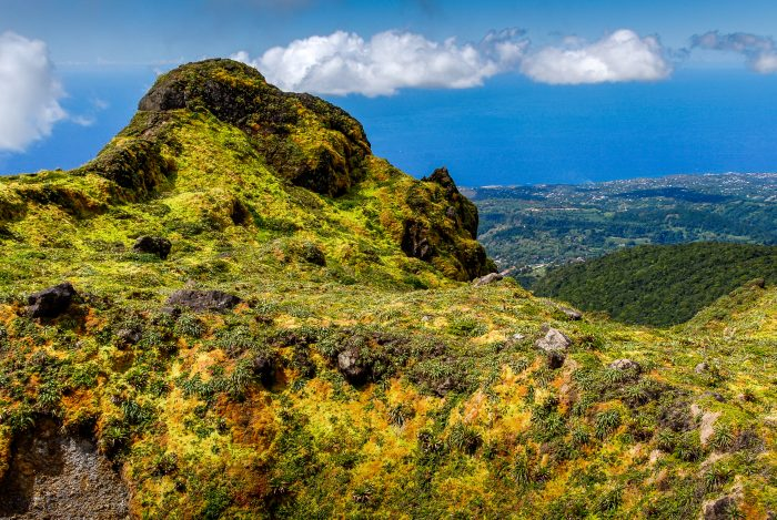 La Soufrière (Soufrière Hills) op Montserrat