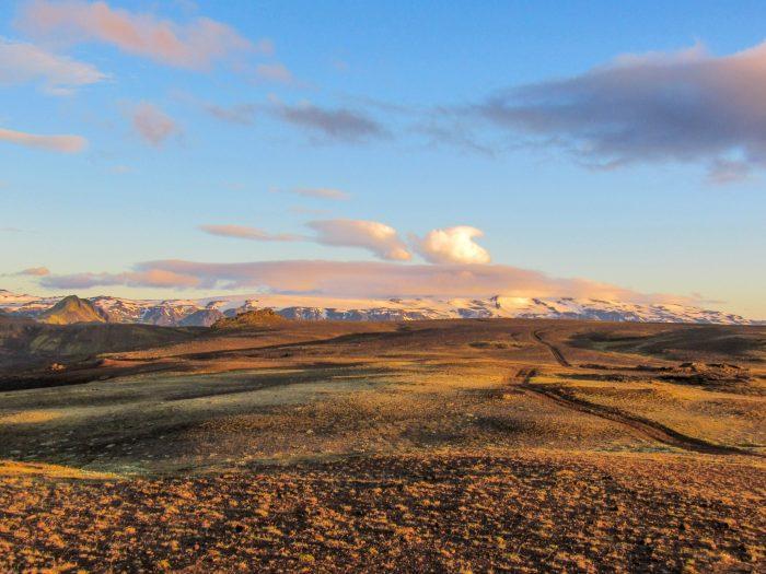 Landschap Eyjafjallajökull en Mýrdalsjökull