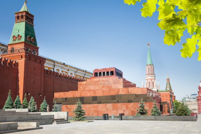 Lenin's Mausoleum in Moskou