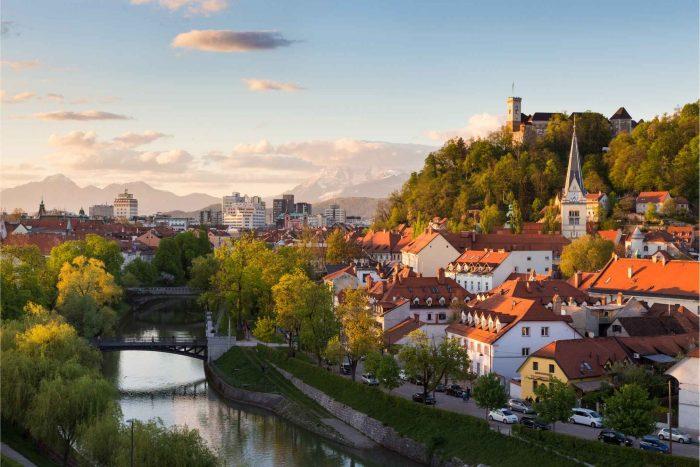 Ljubljana, hoofdstad van Slovenië