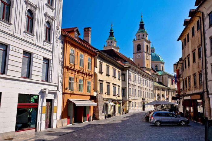 Ljubljana oude binnenstad (old town)