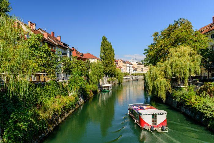 Ljubljanica rivier in Ljubljana