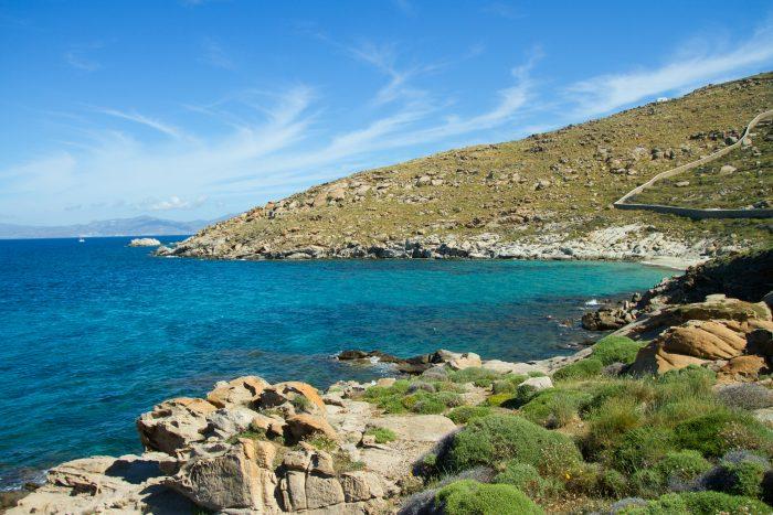 Mykonos strand en natuur
