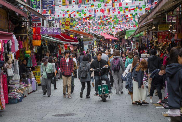 Namdaemun Markt in Seoul