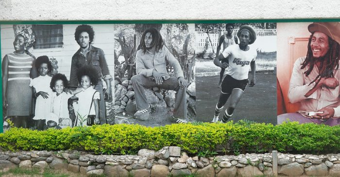Oude foto's bij Bob Marley Museum