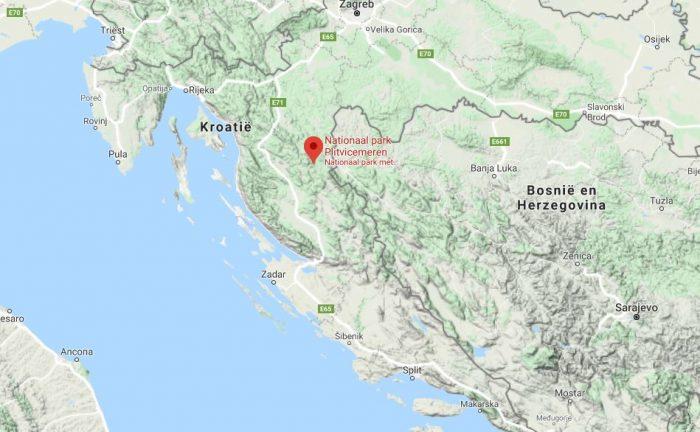 Nationaal Park Plitvicemeren op de kaart