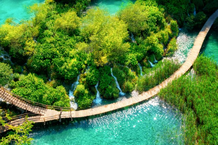 Plitvice Meren in het Nationaal Park in Kroatië
