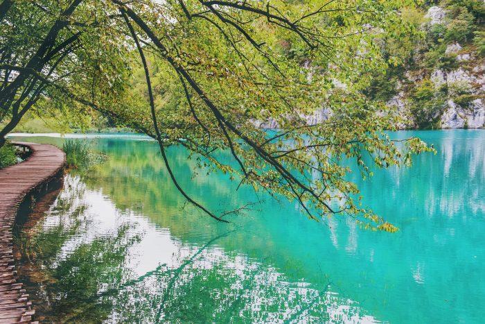 Plitvice Meren met helder blauw water