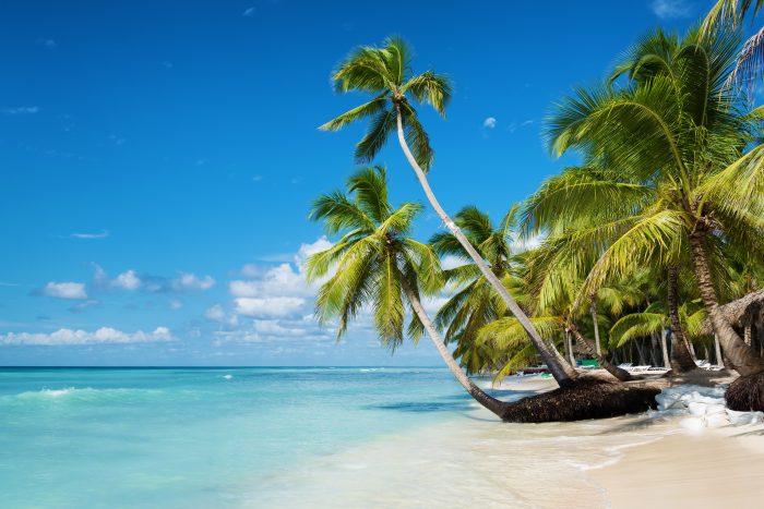 Prachtig weer en strand op de Dominicaanse Republiek