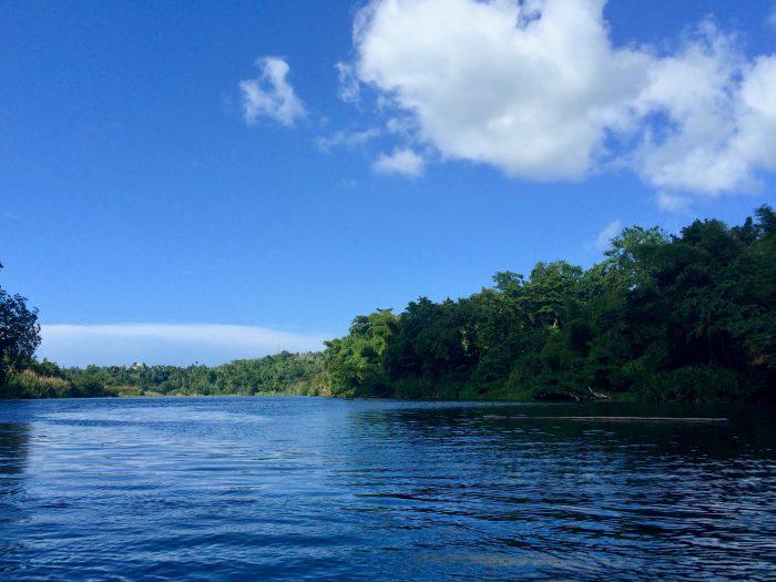 Raften op de Rio Grande rivier in Jamaica
