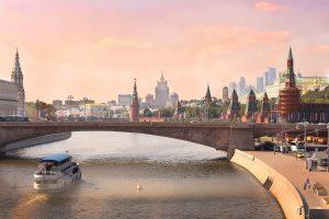 Rivier die door Moskou heen loopt