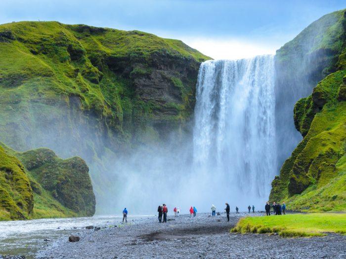 Skogafoss Waterval Bezoeken in IJsland