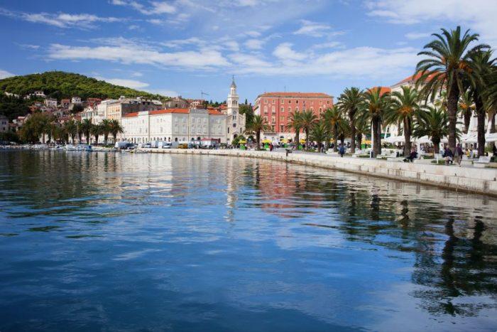 Split Promenade langs het water