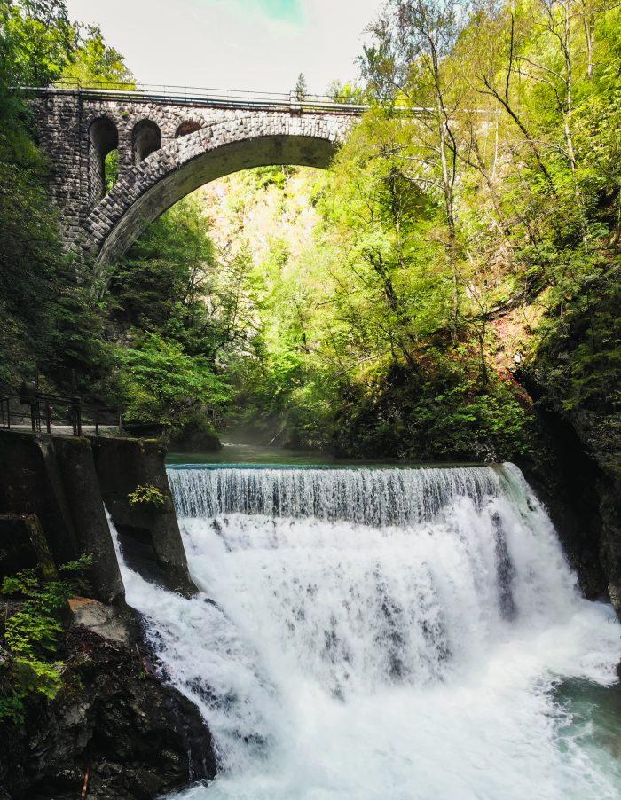 Stenen brug over de Vintgar kloof