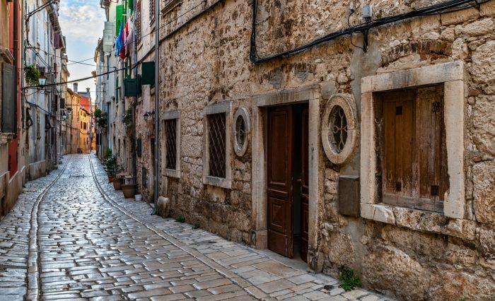 Stenen straatjes in Rovinj