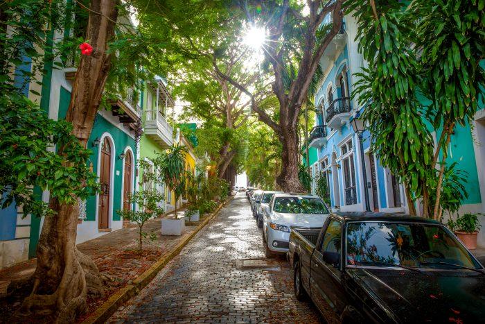 Straat in San Juan op Puerto Rico