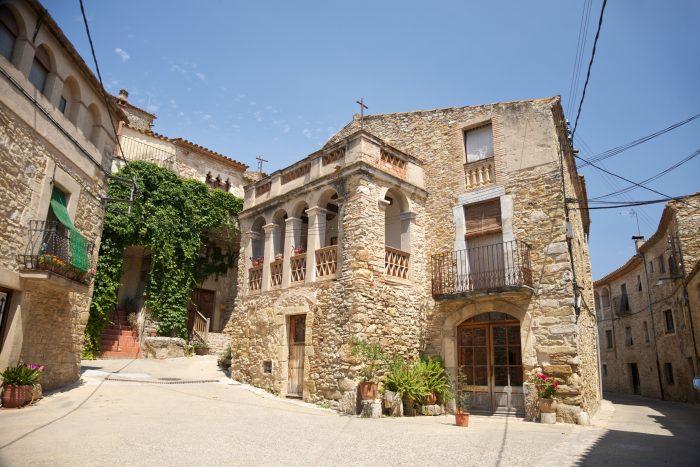 Straathoek in Girona