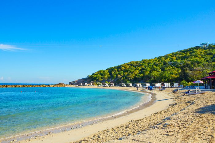 Strand op Haiti