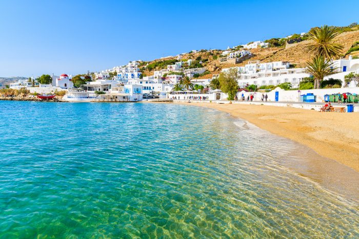 Strand op Mykonos