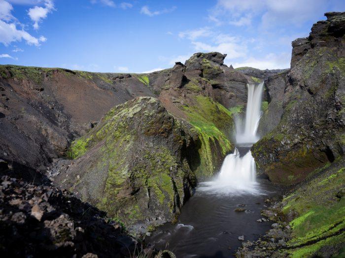 Sunset Falls (Waterval) Fimmvorduhals IJsland