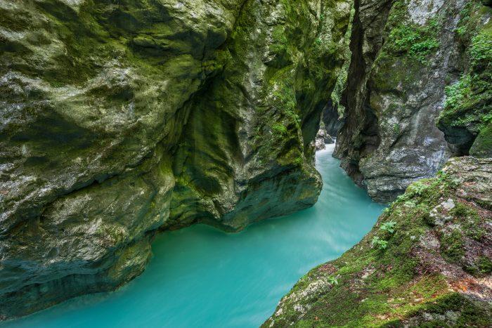 Tolmin kloof vlakbij het Meer van Bled in Slovenië