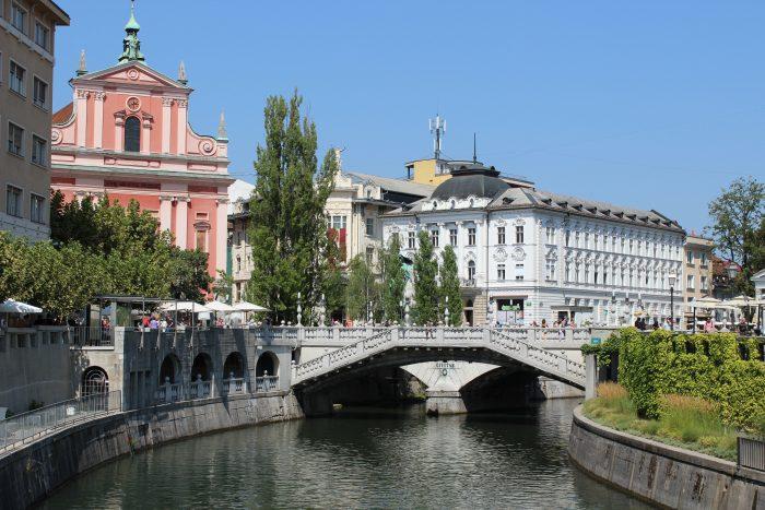 Drie Bruggen (Tromostovje) in Ljubljana