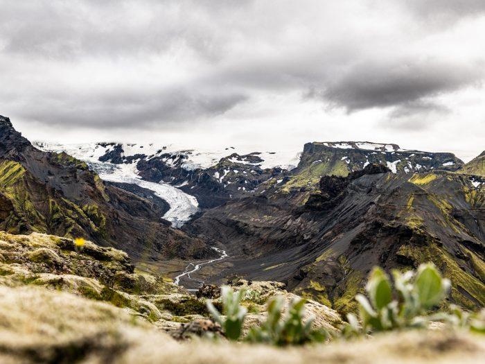 Uitzicht op Eyjafjallajökull