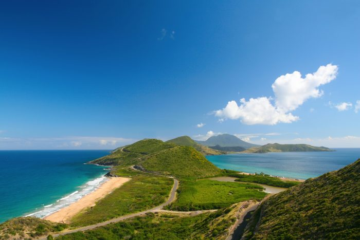 Uitzicht over Saint Kitts en Nevis