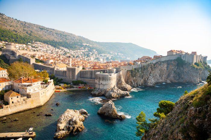 Uitzicht vanaf Fort Lovrijenac op Dubrovnik