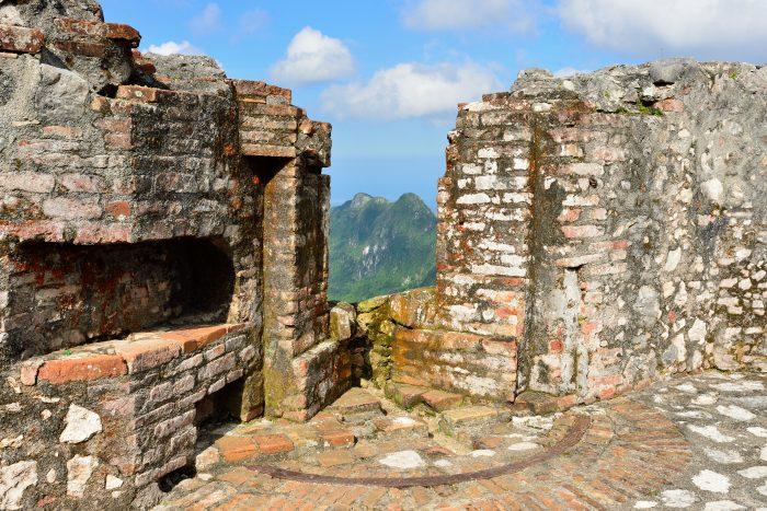 Uitzicht vanaf La Citadelle la Ferriere op Haïti