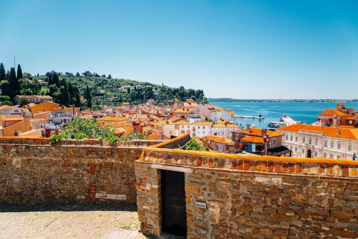 Uitzicht vanaf Old Town in Piran