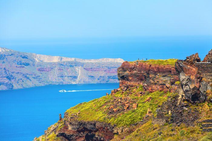 Uitzicht vanaf Skaros Rock
