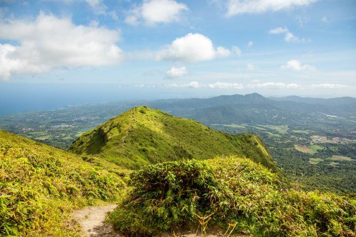 Wandelen op Mount Pelee