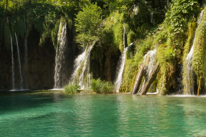 Waterval langs Plitvice Meren