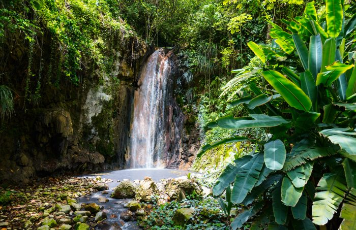 Waterval op Saint Lucia