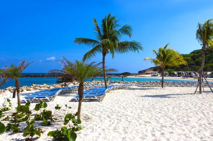 Wit strand op Labadee eiland