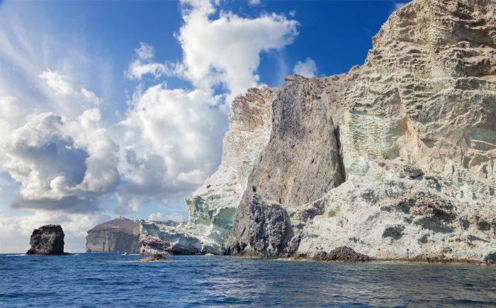 Witte Kliffen op Santorini