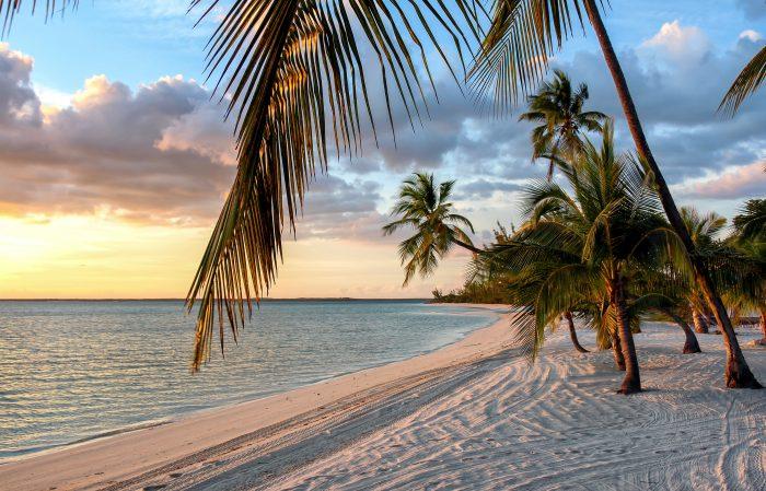 Zonsondergang op de Bahama's