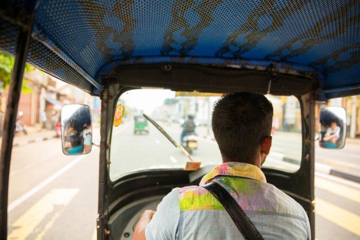 Backpacken Sri Lanka - Tuktuk met Chauffeur